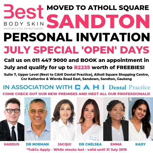 Best Body Skin July Open Days Specials